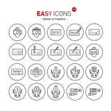 Dinheiro fácil dos ícones 13b Fotografia de Stock