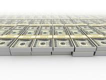 Dinheiro fundo dos dólares americanos Foto de Stock Royalty Free