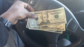 Dinheiro ganhado foto de stock