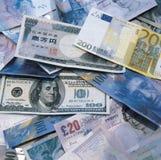Dinheiro global Fotografia de Stock