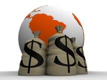 Dinheiro global Fotografia de Stock Royalty Free