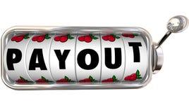 Dinheiro grande Inco do dinheiro do pagamento do salário do slot machine do jackpot do pagamento Imagens de Stock Royalty Free