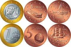 Dinheiro grego ajustado do vetor ilustração do vetor