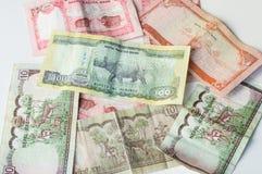 Dinheiro indiano - moedas do banco de Nepal Rastra - notas das rupias de Nepal Fotografia de Stock Royalty Free