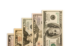 Dinheiro isolado no fundo branco Imagens de Stock Royalty Free