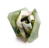 Dinheiro isolado no fundo branco Fotografia de Stock