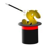 Dinheiro mágico Fotografia de Stock Royalty Free
