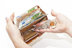 Dinheiro na bolsa Foto de Stock Royalty Free