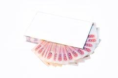 Dinheiro na caixa de presente imagens de stock
