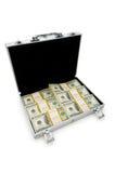 Dinheiro na caixa isolada fotos de stock