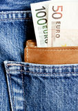 Dinheiro na carteira Imagens de Stock Royalty Free