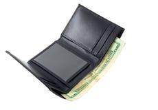 Dinheiro na carteira Fotos de Stock