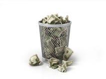 Dinheiro na cesta Fotografia de Stock Royalty Free