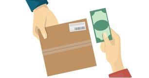 Dinheiro na entrega, serviço do BACALHAU Imagens de Stock
