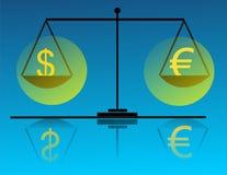Dinheiro na escala Fotografia de Stock
