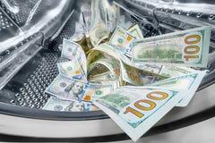 Dinheiro na máquina de lavar imagem de stock royalty free