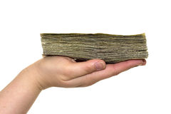 Dinheiro na mão Foto de Stock Royalty Free