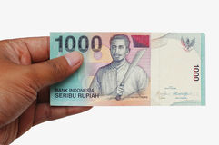 Dinheiro na mão Imagens de Stock
