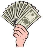 Dinheiro na mão ilustração do vetor
