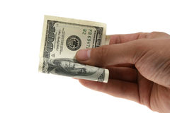 Dinheiro na mão Imagem de Stock