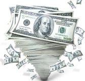 Dinheiro na pilha de dinheiro Foto de Stock