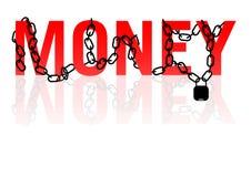 Dinheiro nas correntes Fotos de Stock Royalty Free