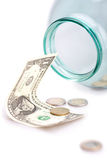 Dinheiro no banco Imagem de Stock