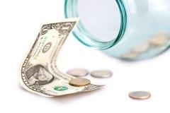 Dinheiro no banco Fotografia de Stock