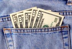 Dinheiro no bolso Fotografia de Stock Royalty Free