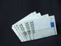 Dinheiro no bolso Fotos de Stock