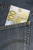 Dinheiro no bolso Imagens de Stock