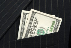 Dinheiro no bolso Imagem de Stock