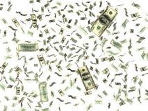 Dinheiro no branco Fotografia de Stock Royalty Free