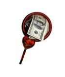 Dinheiro no copo Fotografia de Stock Royalty Free