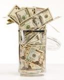 Dinheiro no frasco Imagem de Stock Royalty Free
