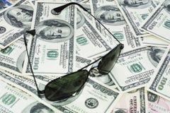 Dinheiro no fundo branco Imagens de Stock