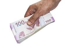 Dinheiro no fundo branco Foto de Stock