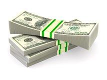 Dinheiro no fundo branco Ilustração 3d isolada ilustração do vetor