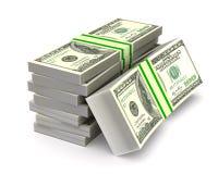 Dinheiro no fundo branco Ilustração 3d isolada ilustração royalty free