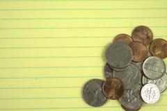 Dinheiro no fundo do papel de nota Fotografia de Stock Royalty Free