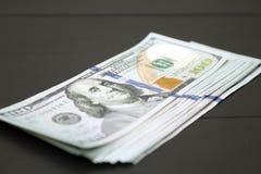 Dinheiro no fundo preto Imagem de Stock Royalty Free