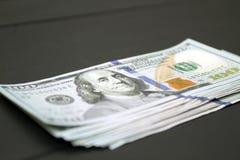 Dinheiro no fundo preto Foto de Stock Royalty Free