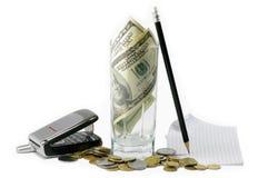 Dinheiro no negócio Fotografia de Stock