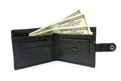 Dinheiro no openin uma bolsa Imagem de Stock Royalty Free