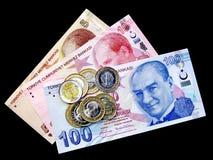 Dinheiro no preto Fotografia de Stock