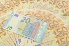 Dinheiro novo do euro vinte Fotografia de Stock Royalty Free
