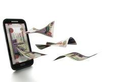 dinheiro novo rendido 3D da libra egípcia inclinado e isolado no fundo branco ilustração stock