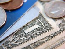 Dinheiro ou crédito Foto de Stock Royalty Free