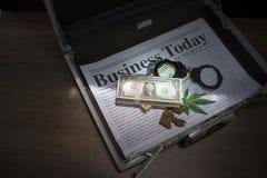Dinheiro para a corrupção imagem de stock