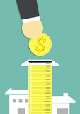 Dinheiro para a HOME Foto de Stock Royalty Free